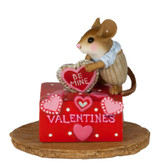 Wee Forest Folk Miniatures - His Secret Valentine Box (M-189d)