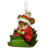 Wee Forest Folk Miniatures - Holly Express Ornament (M-629a)