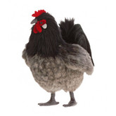 "Hansa Black and Grey Hen, 10"" (6037)"