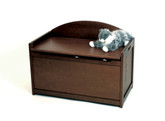 Lipper International Child's Toy Chest, Walnut Finish