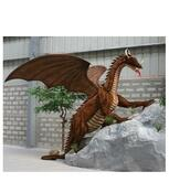 "Hansa Great Dragon, Life Size 116''L x 96""H"