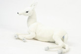 Hansa White Reindeer Baby, Laying Down 26''L