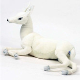Hansa White Reindeer Baby, Laying Down 26''L (5934)