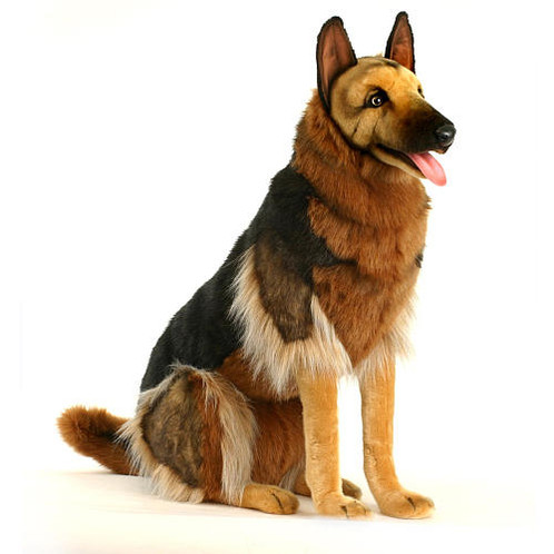 Hansa German Shepherd Sitting 34 H Endeavour Toys