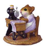 Wee Forest Folk Miniature - Miss Bobbin (M-40-Lavender).