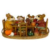 Wee Forest Folk Miniature - Thanksgiving Family Gathering (M-302)