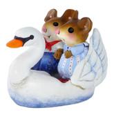 Wee Forest Folk Miniature - Swan Boat Sweethearts (M-475)