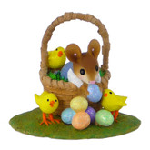 Wee Forest Folk Miniature - Easter Basket Bounty Boy (M-504b)