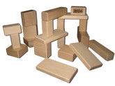 Beka Wooden Blocks - 20 Piece Toddler Set