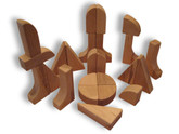 Beka Wooden Blocks - 24 Piece Special Shapes Collection