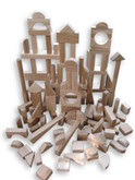 Beka Wooden Blocks - 120 Piece Special Shapes Collection