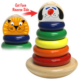 Holgate Rocky Cat / Dog Color Cone Wooden Stacking Rings
