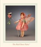 R John Wright Dolls - Red Clover Flower Fairy