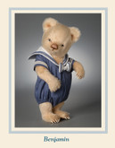 R John Wright Dolls - Toddler Bear Benjamin