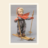 R John Wright Dolls - The Hummel Skier