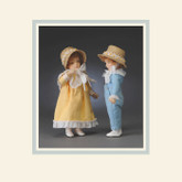 R John Wright Dolls - Molly & Jack