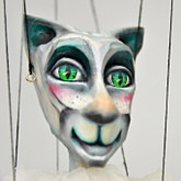 Handmade Wooden Marionette - Cat Ballet Dancer