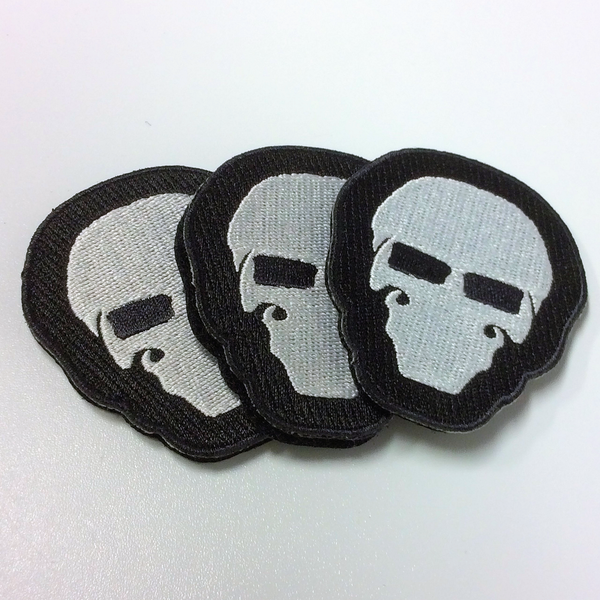 "Black ""Murdered Out"" Garry Patches"