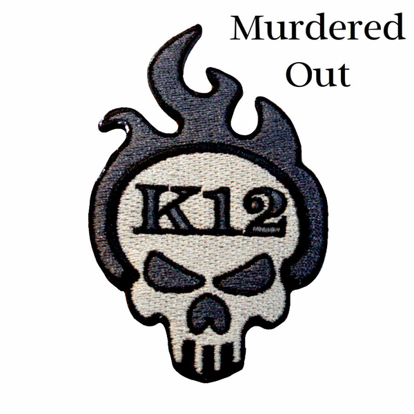 """K12 Logo Patch - """"Murdered Out"""""""