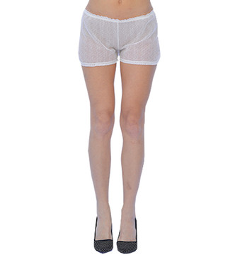 White Lace Night Shorts
