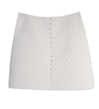Esther Pean White Buttoned Skirt