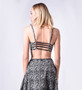 Line Dry Tribal Print Cage Back Crop Top Bralette
