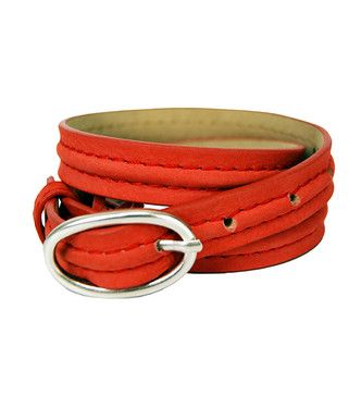 Abaco Coral Leather Belt