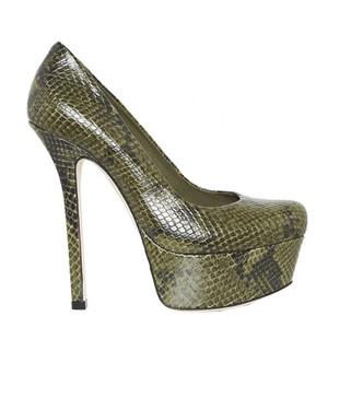 Olive Larimore Snake Skin Heel
