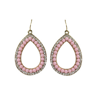 Hazel8 Drop Earrings in Baby Pink