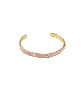 Elizabeth and James Pink Sapphire Cuff