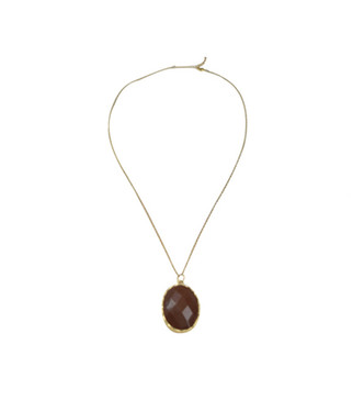 Hancock Gold Necklace w/ Large Stone