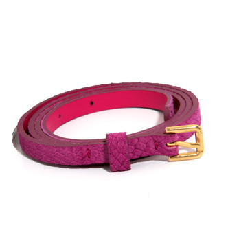 Hoss Skinny Belt in Bright Pink