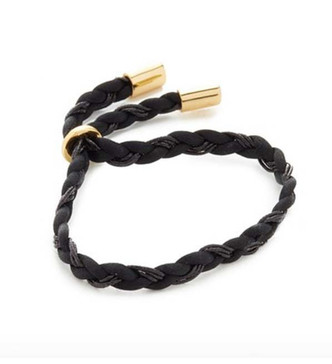 Elizabeth and James Cannes Braided Bracelet in Black