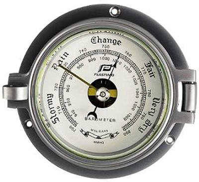 "Plastimo 3"" Barometer Hinged Chrome/Matt Chrome"
