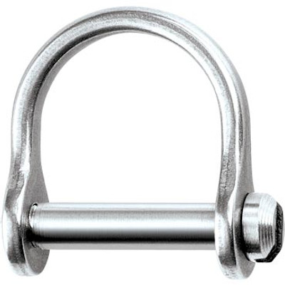 "Ronstan Shackle, Wide Dee, Slotted Pin 1/8"", L:12mm, W:9mm"