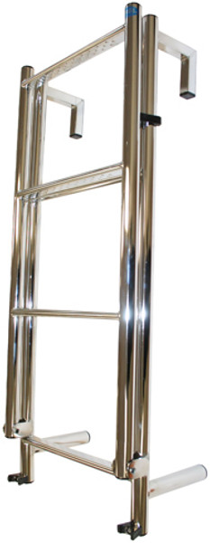 RWB Stainless Steel Toe Rail 6 Rung Yacht Ladder