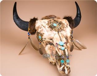 Southwest Buffalo and Steer Skulls