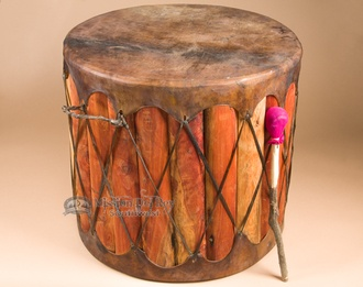 Ideas For Using Native American Drums As Rustic