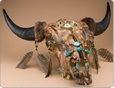 southwestern painted steer skulls