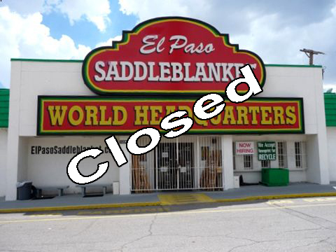 El Paso Saddle Blanket still open