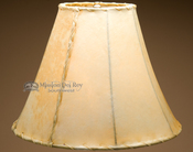 "Southwestern rawhide bell lamp shade - 18"""