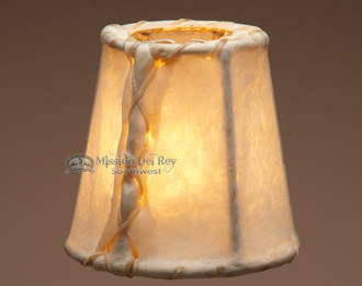 Rustic rawhide chandelier lamp shades 4 mission del rey southwest rustic rawhide chandelier lamp shades 4 aloadofball Images
