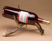 Real antler wine rack - single.
