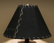 "Western Leather Lamp Shade - 10"" Black Pig Skin"