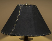 "Western Leather Lamp Shade - 14"" Black Pig Skin"