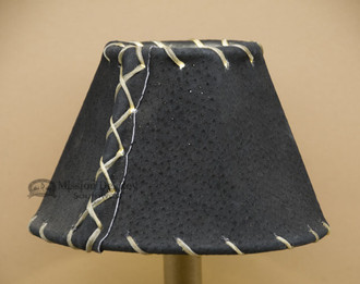 """6"""" Black Leather Chandelier Shade"""