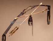 Bow and Arrow Set with Antler Handle