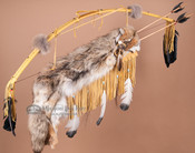 Gold Bow and Coyote Pelt Quiver Set