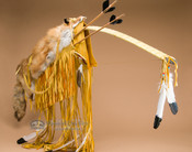 Gold Bow and Red Fox Pelt Case