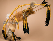 """Native American Bow And Fox Quiver 44"""" -Gold (B78)"""